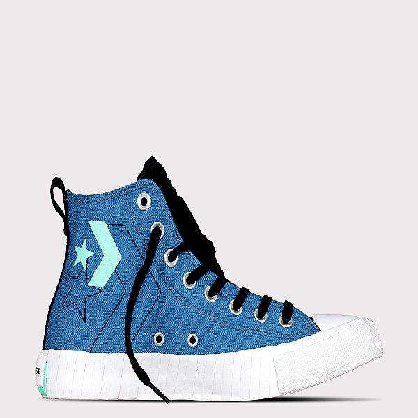 Tênis Converse All Star Chuck Taylor Hi - Azul Escuro/Preto