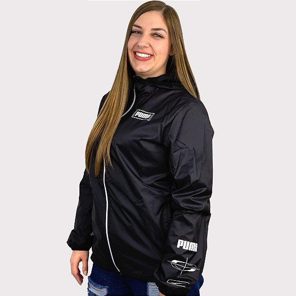 Jaqueta Corta Vento Puma Essentials Rebel Windbreaker - Black