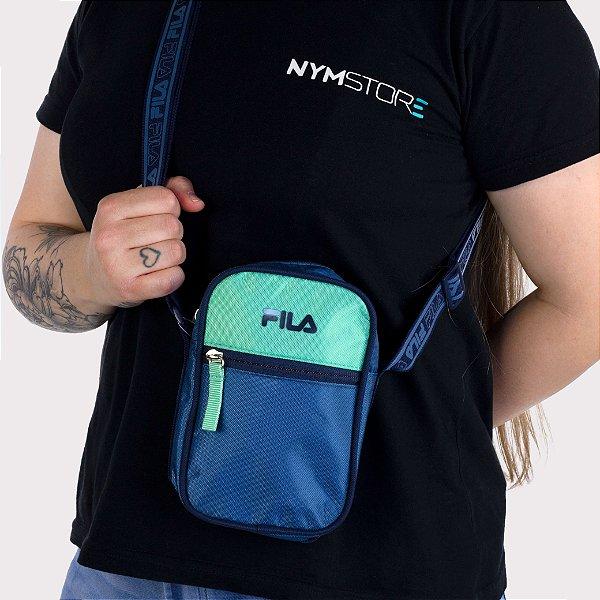 Bolsa Lateral Fila Unissex Webbing - Marinho/Verde