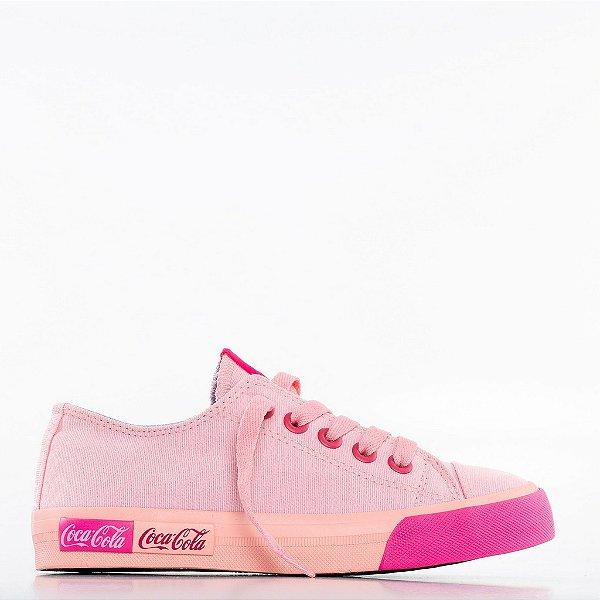 Tênis Coca-Cola Blend Canvas - Rosa/Pink