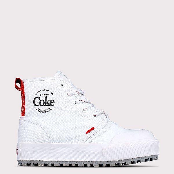 Tênis Coca-Cola Denver - Branco