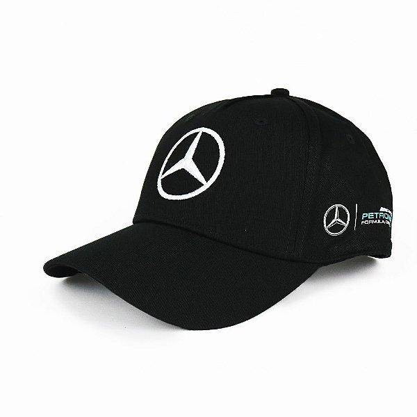 Boné Mercedes Benz Lewis Hamilton F1 - Preto