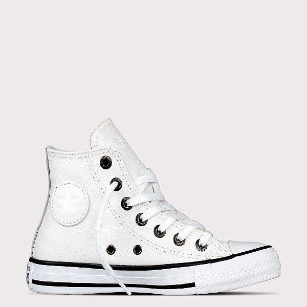 Tênis Converse All Star Chuck Taylor Couro Hi - Branco