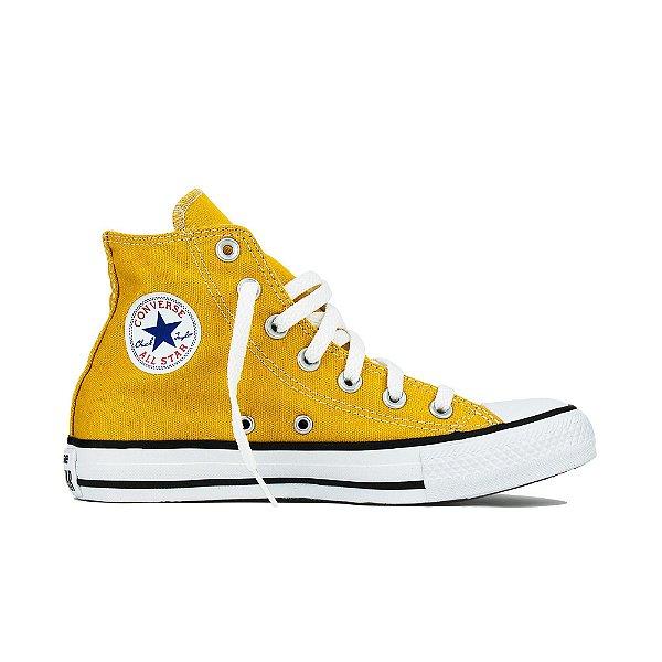 Tênis Converse All Star Cano Alto Chuck Taylor - Amarelo Minério