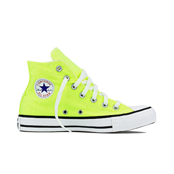 1027d6b515d Tênis Converse All Star Cano Alto Chuck Taylor Tecido Verde Fluor ...