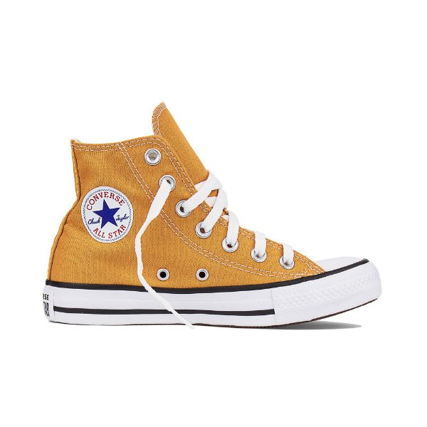 13cf4a718e8 Tênis Converse All Star Cano Alto Chuck Taylor - Amarelo Mostarda ...