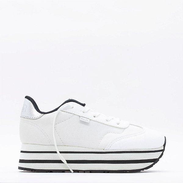 Tênis Keds Jogging Hi-Ny Plataforma - Branco