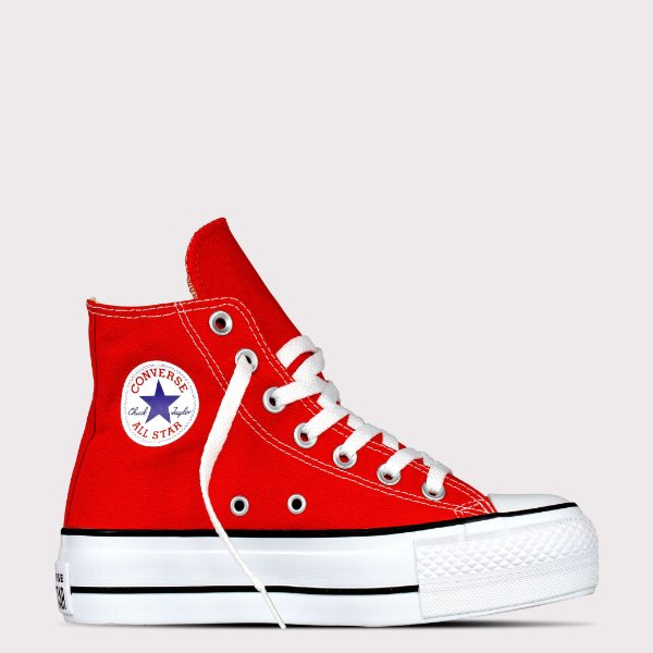 Tênis Converse All Star Chuck Taylor Lift Hi - Vermelho