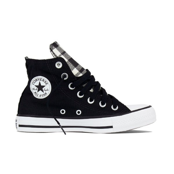 Tênis Converse All Star Cano Alto Chuck Taylor Quadriculado - Preto