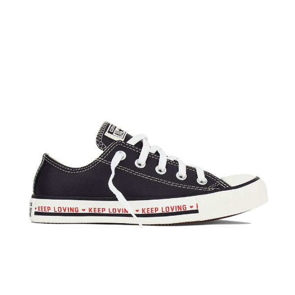 af3917fa7a Tênis Converse All Star Chuck Taylor Couro Keep Loving - Preto - NYM ...