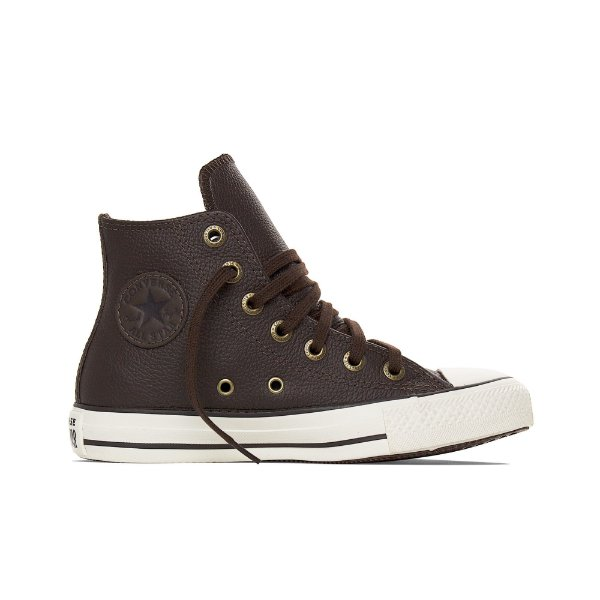 Tênis Converse All Star Chuck Taylor Couro Hi - Chocolate