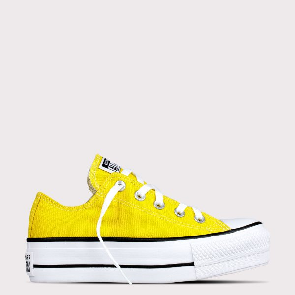 Tênis Converse All Star Chuck Taylor Lift - Amarelo Vivo