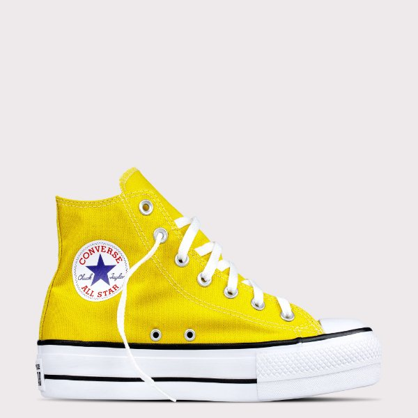 Tênis Converse All Star Chuck Taylor Lift Hi - Amarelo Vivo