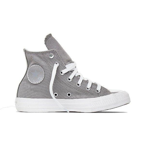 Tênis Converse All Star Chuck Taylor Hi - Alumínio/Prata