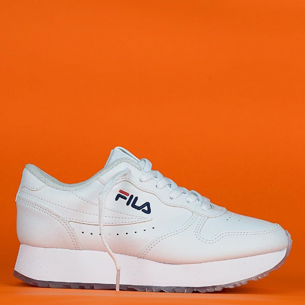 Tênis Fila Euro Jogger Wedge Sintético Plataforma Feminino - Branco