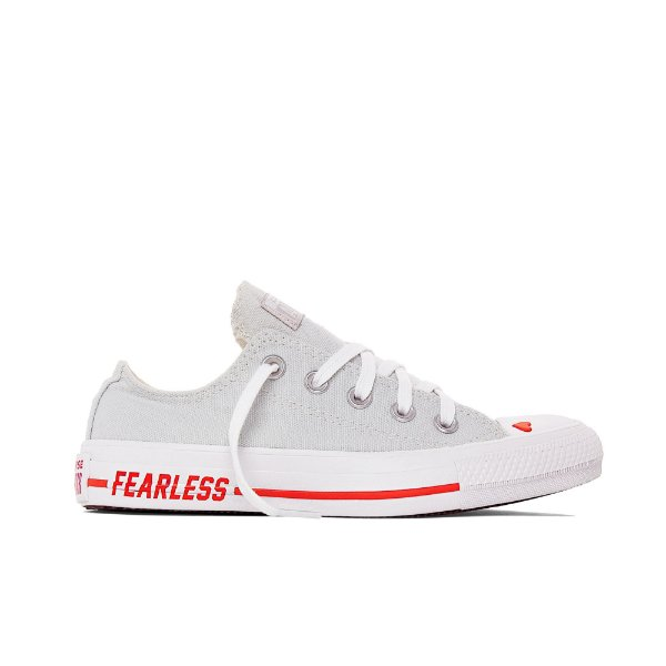 Tênis Converse All Star Chuck Taylor Love Fearlessly Ox - Cinza
