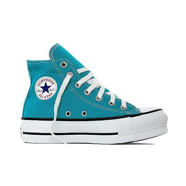 Tênis Converse All Star Chuck Taylor Lift Hi - Azul Acido
