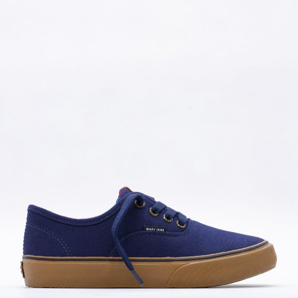 Tênis Mary Jane Venice Classic Feminino - Evening Blue/Avelã