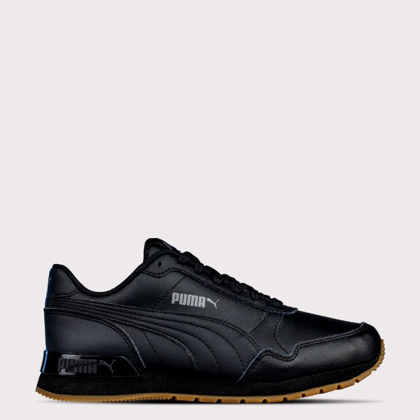 Tênis Puma ST Runner V2 FULL Leather - Black