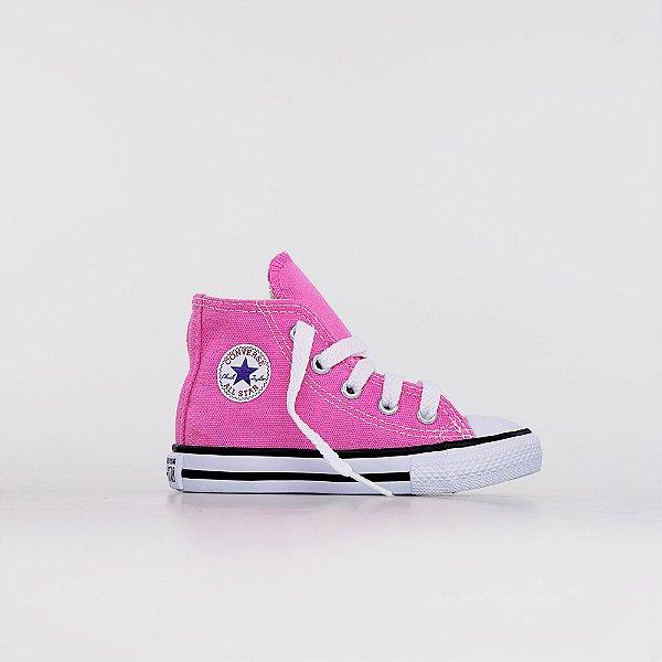 Tênis Converse All Star Chuck Taylor Kids Hi - Rosa Cru