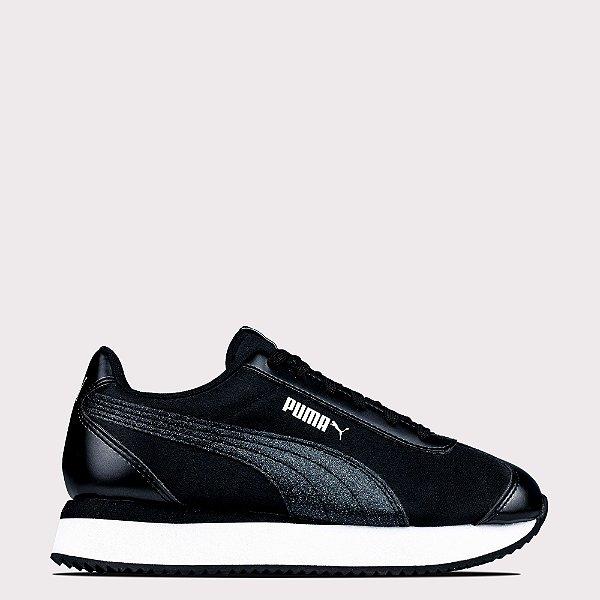 Tênis Puma Turino Stacked Glitter - Black