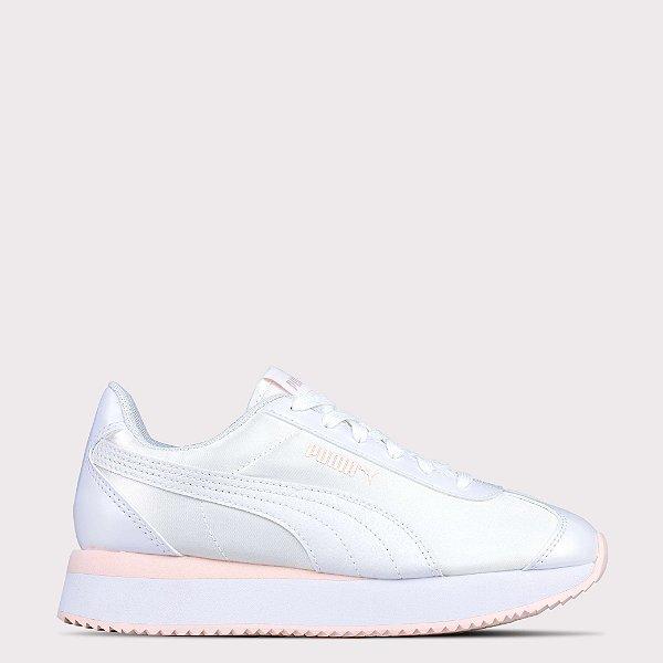 Tênis Puma Turino Stacked Glitter - White