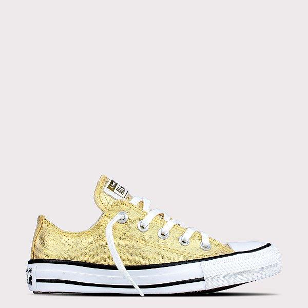 Tênis Converse All Star Chuck Taylor Ox - Ouro Glitter