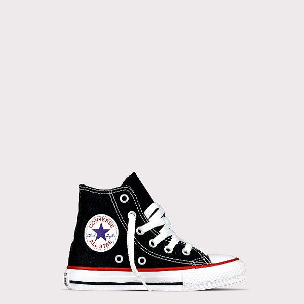Tênis Converse All Star Hi Kids - Preto