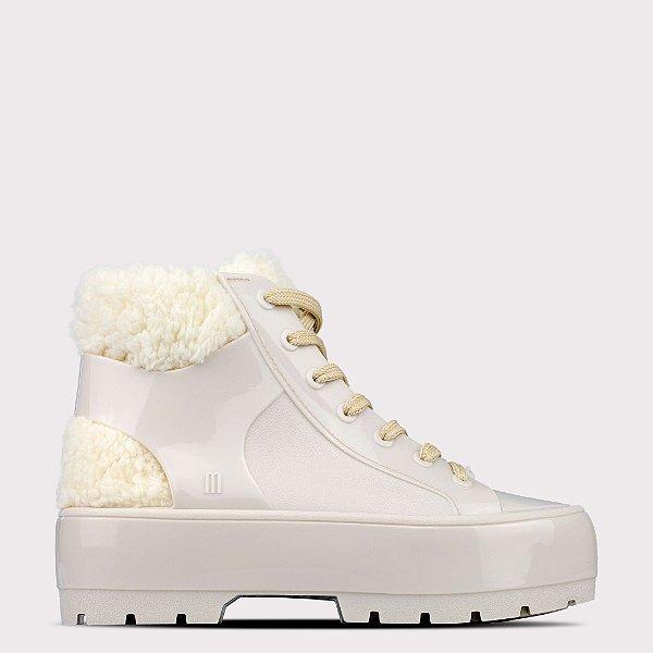 Bota Melissa Fluffy Sneaker - Bege Birch Opaco