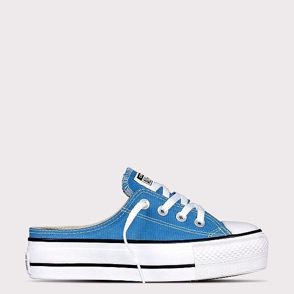 Tênis Converse All Star Chuck Taylor Mule Lift - Azul Escuro/Preto