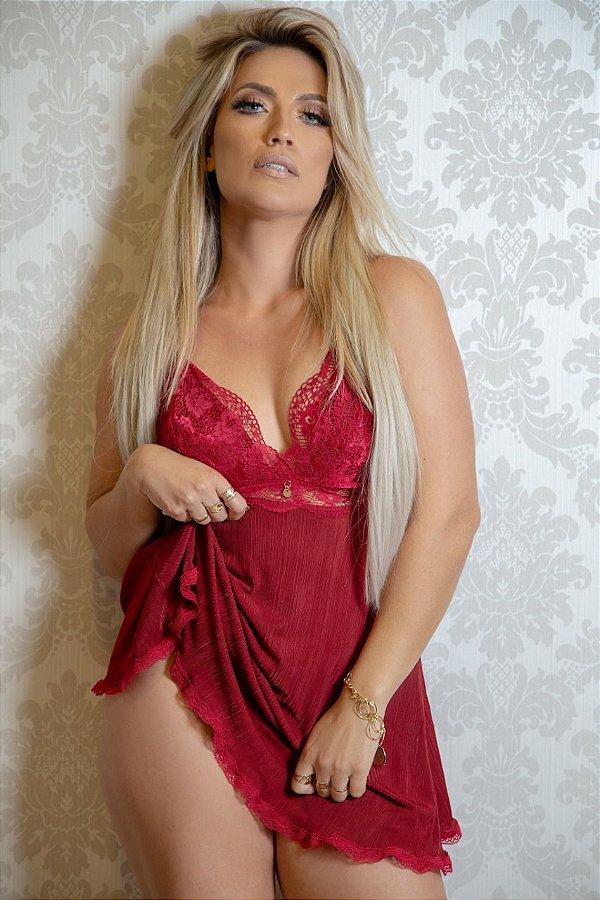 Camisola luxo sensual vermelho dia dos namorados