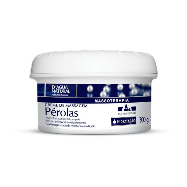 Creme De Massagem Pérolas 300g D'Agua Natural