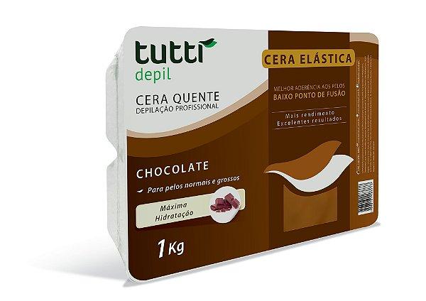 Cera Elástica Chocolate 1kg Tutti Depil