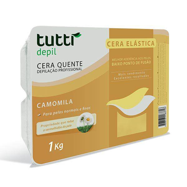 Cera Elástica Camomila 1kg Tutti Depil