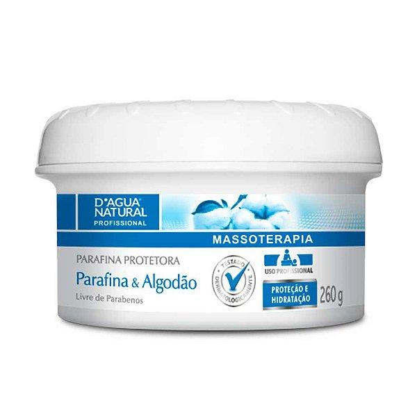 Creme Parafina Protetora Parafina e Algodão 260 g D'Água Natural