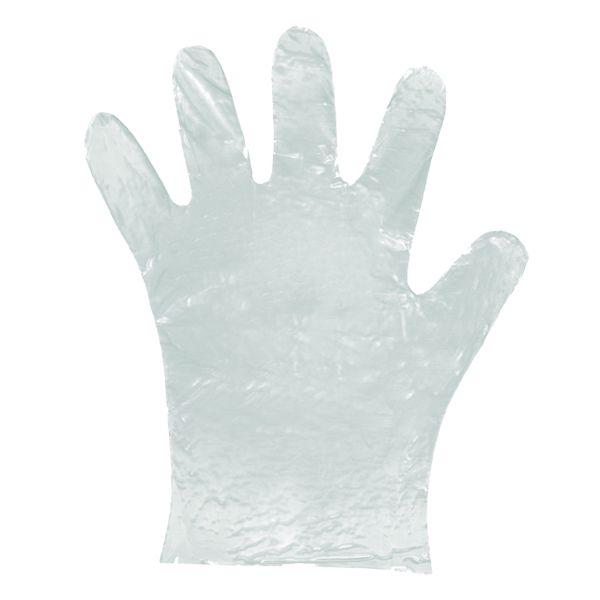 Luva Plástica Transparente Descartável Multiuso Pacote com 100 Santa Clara