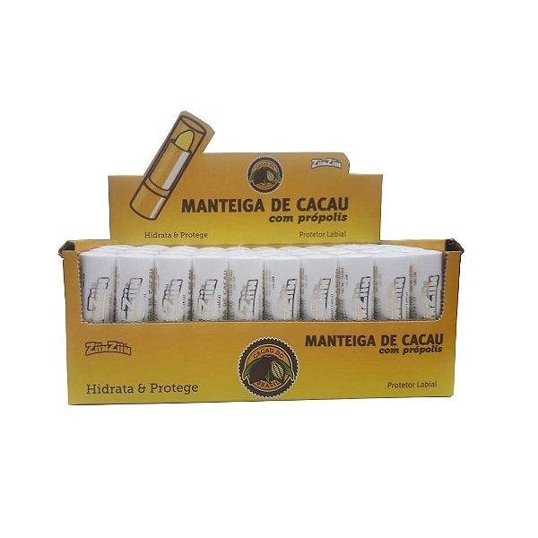 Protetor Labial Manteiga de cacau c própolis c/50