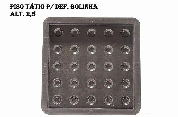 KIT C/ 70 UNIDADES, (R$ 8,05 CADA), FORMA PLÁSTICA PISO TÁTIL ALERTA 25X25X2,5