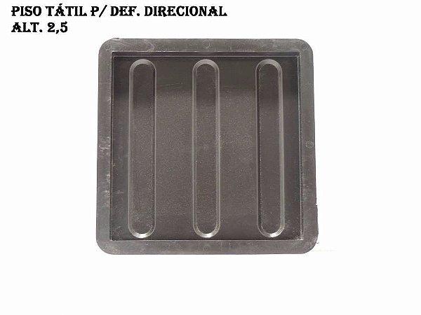 KIT C/ 70 UNIDADES, (R$ 8,05 CADA), FORMA PLÁSTICA PISO TATIL DIRECIONAL 25X25X2,5