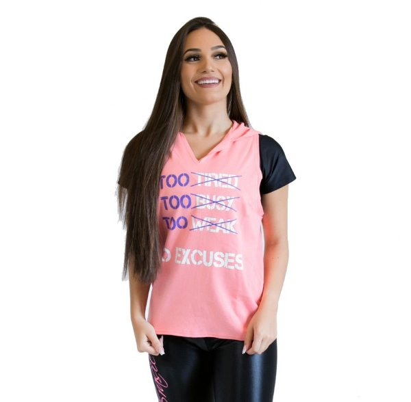 Colete feminino - No excuses - rosa
