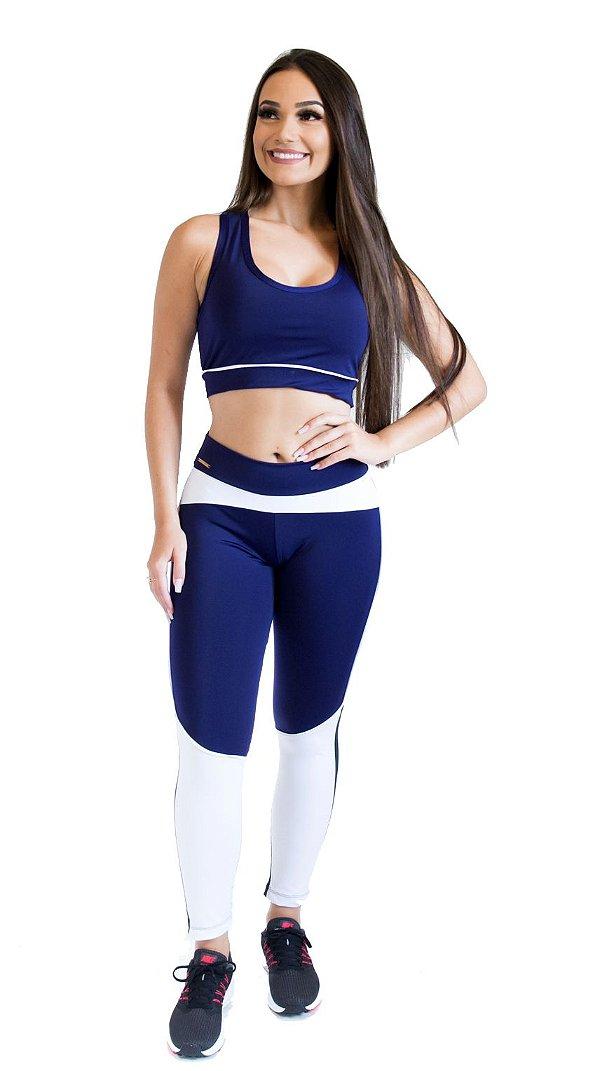 Calça Legging - Scissor Training - Azul Marinho