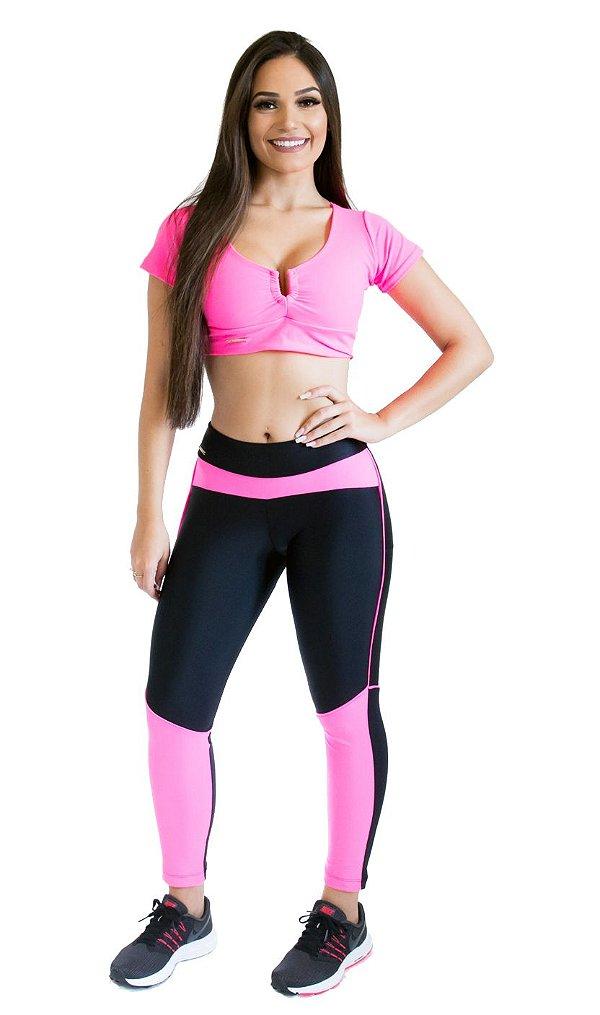 Calça Legging - Scissor Training - Rosa