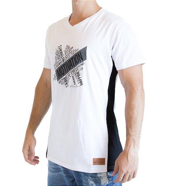 Camiseta Longline - Motivation - Branca