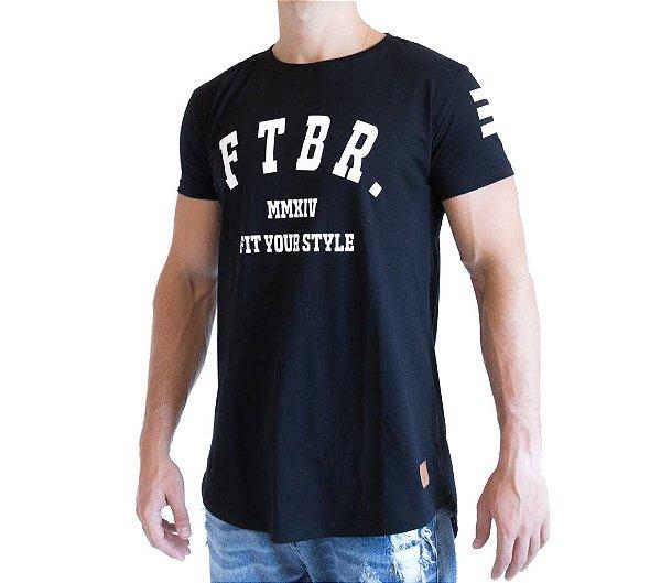 Camiseta Longline - FTBR - Preta