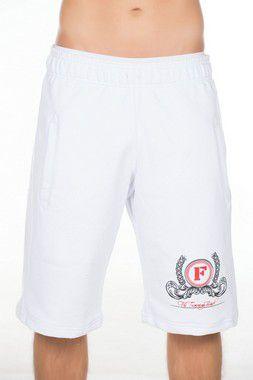 Bermuda de moletom masculina FF Branca