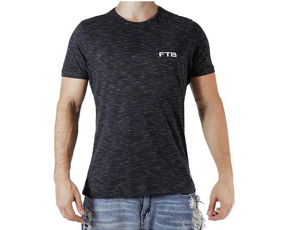 Camiseta Casual - Basic - Preta