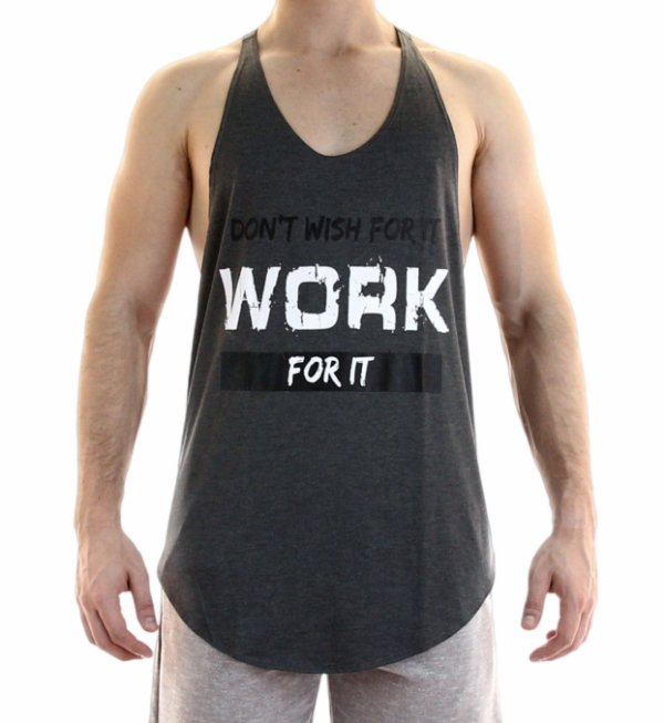 Regata de Treino - Work for it - Preto Mescla