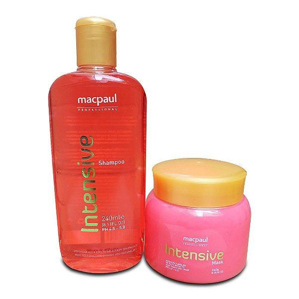 Mac Paul Kit Intensive Máscara de Morango e Shampoo (2 Produtos)