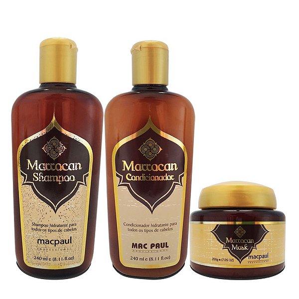 Mac Paul Kit Marrocan Shampoo Condicionador e Máscara (3 produtos)