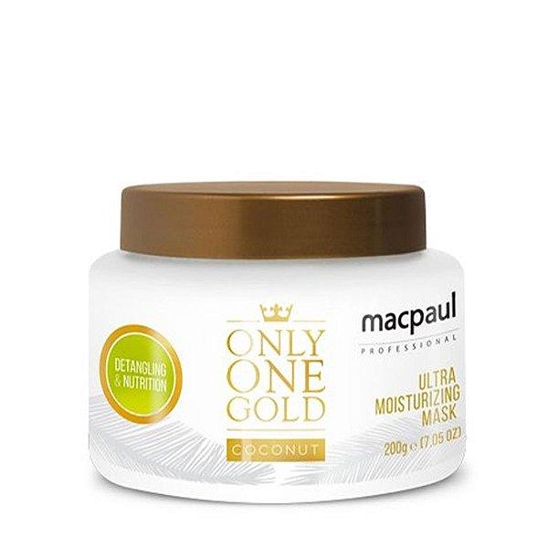 MAC PAUL ONLY ONE GOLD COCONUT MÁSCARA NUTRIÇÃO 200G